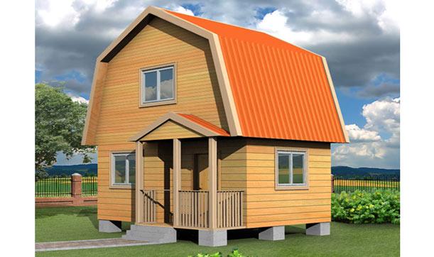 Каркасный домик из бруса
