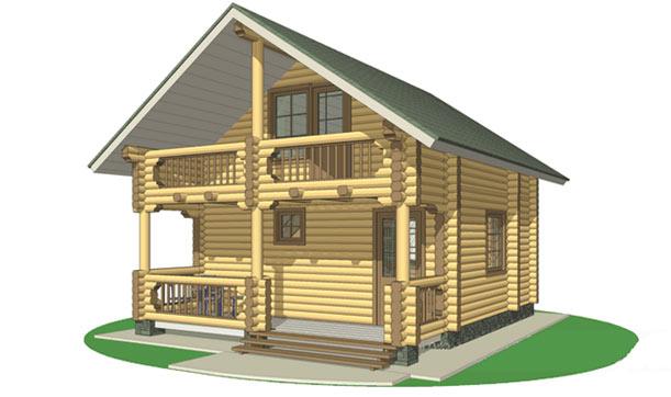 Дома из цилиндрического бревна: проекты, цены, фото